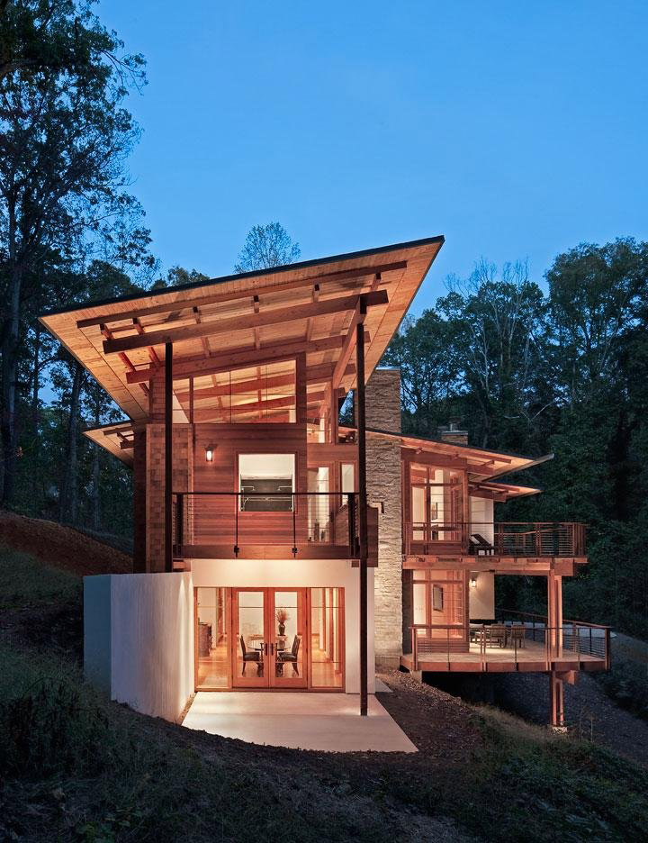 Greenland road residence in atlanta by studio one architecture Modern houses in atlanta