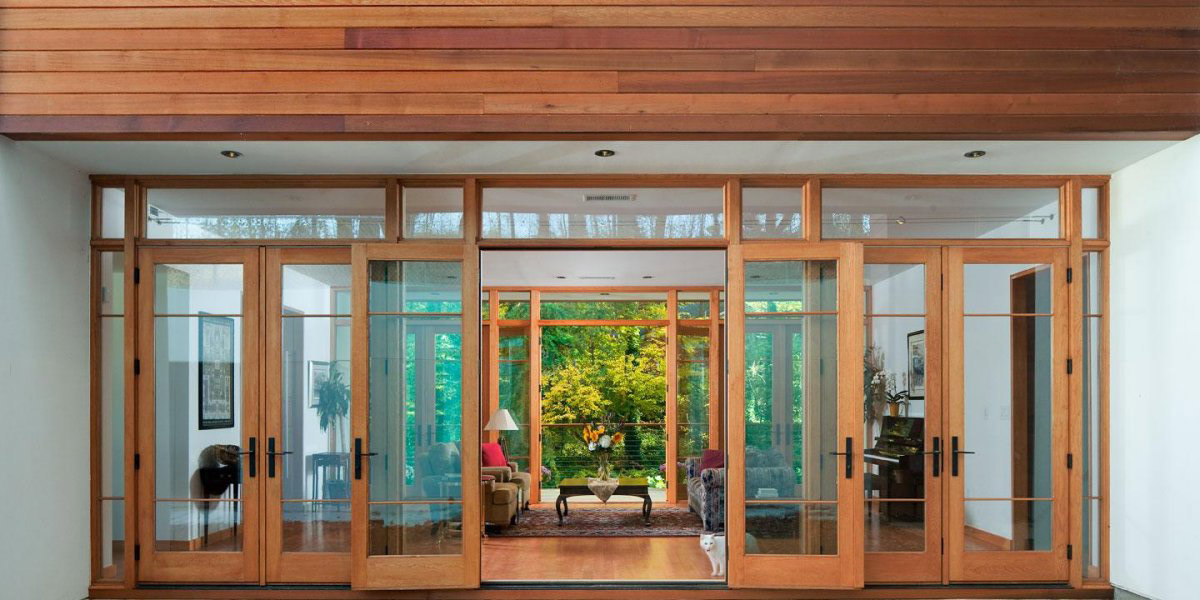 Patio Doors, Greenland Road Residence in Atlanta by Studio One Architecture