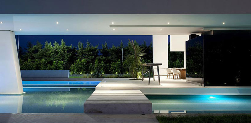 Pool, Bridge, H3 House in Athens, Greece by 314 Architecture Studio