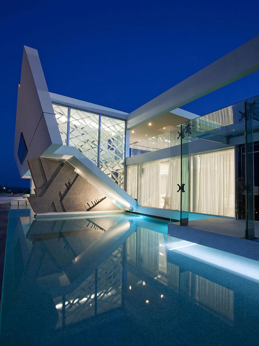 Pool Lighting H3 House In Athens Greece By 314