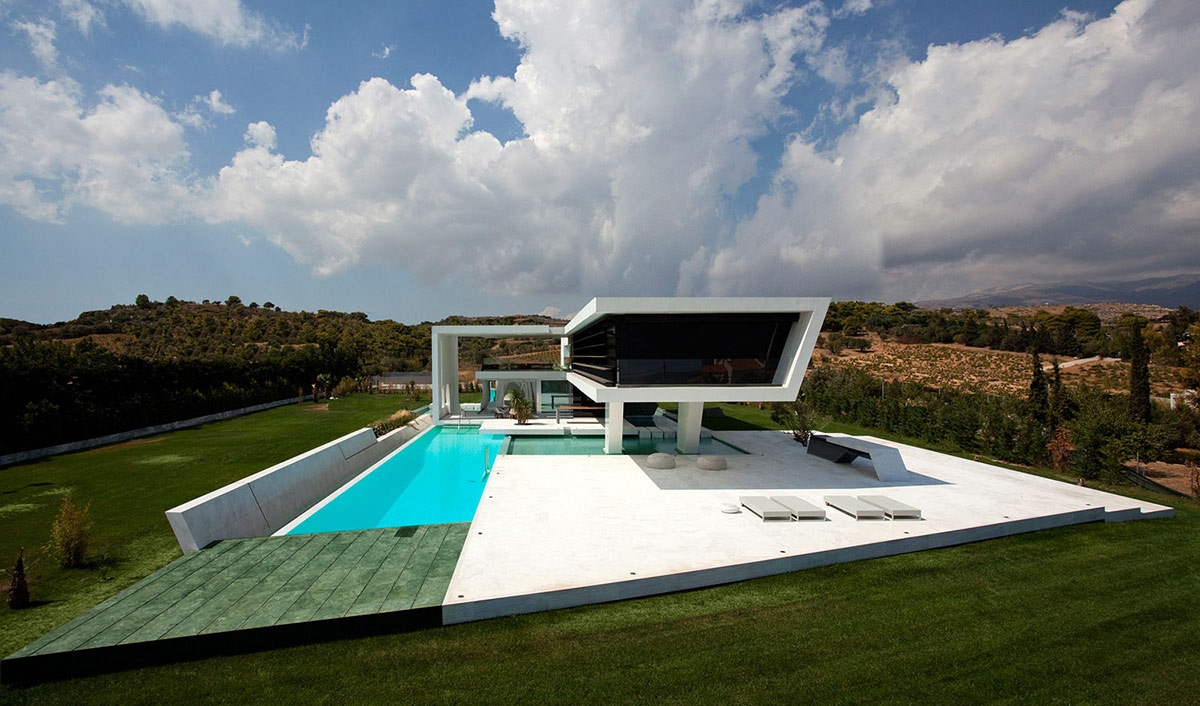 Swimming Pool, Terrace, H3 House in Athens, Greece by 314 Architecture Studio