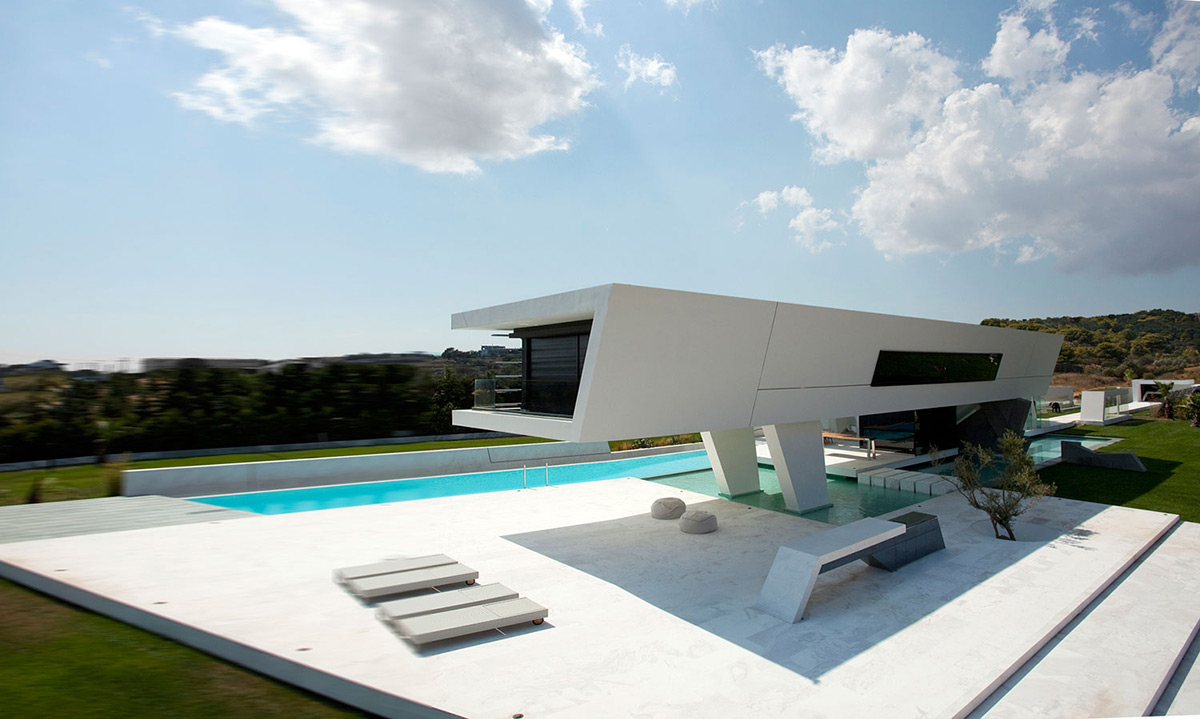 Terrace, Pool, H3 House in Athens, Greece by 314 Architecture Studio