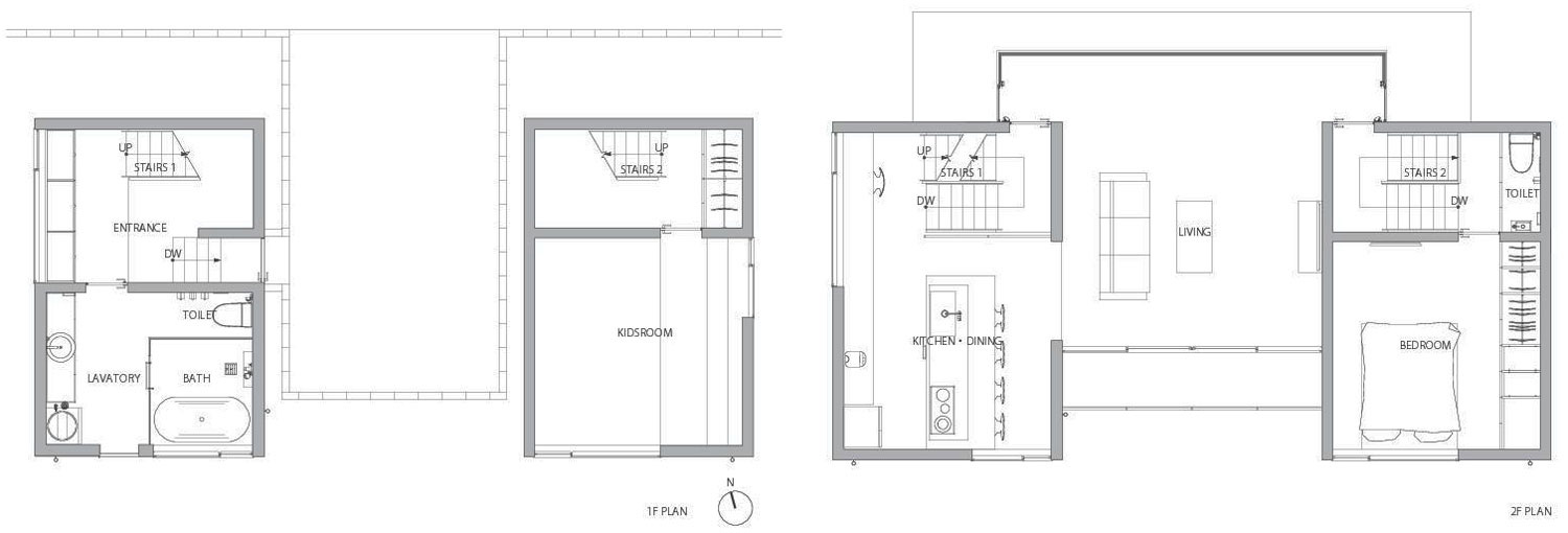 Floor Plan, Outotunoie Fujieda, Japan by mA-style Architects