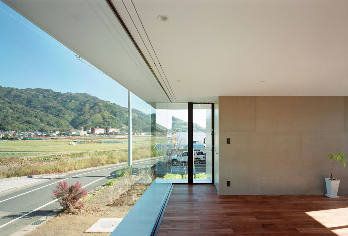 Glass Wall, Wood Flooring, Outotunoie Fujieda, Japan by mA-style Architects
