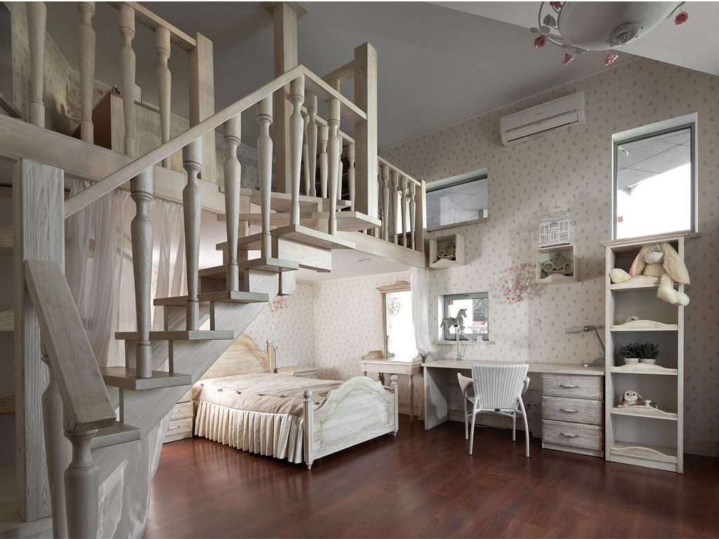 Bedroom, Mezzanine, House in Dnepropetrovsk, Ukraine by Yakusha Design