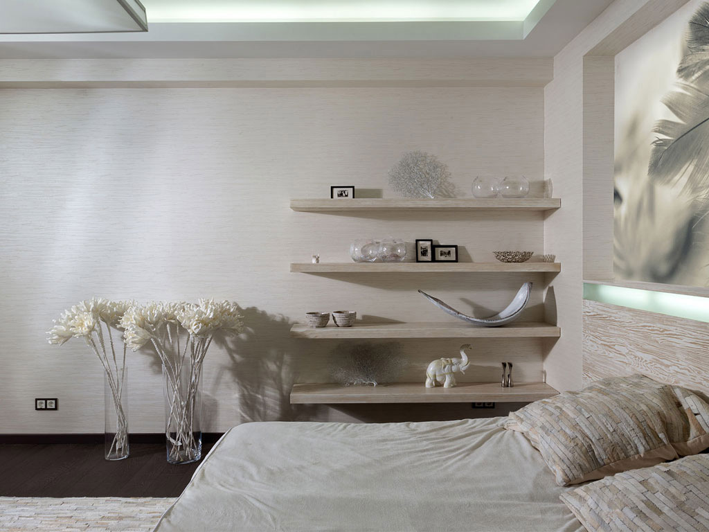Bedroom Shelves, House in Dnepropetrovsk, Ukraine by Yakusha Design