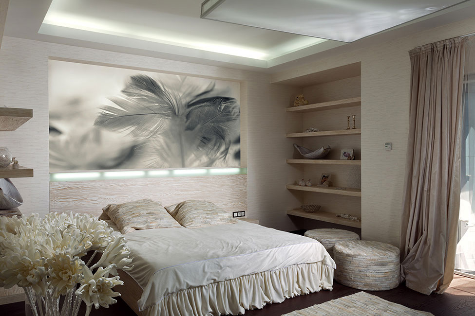 Bright Bedroom Lighting, House in Dnepropetrovsk, Ukraine by Yakusha Design