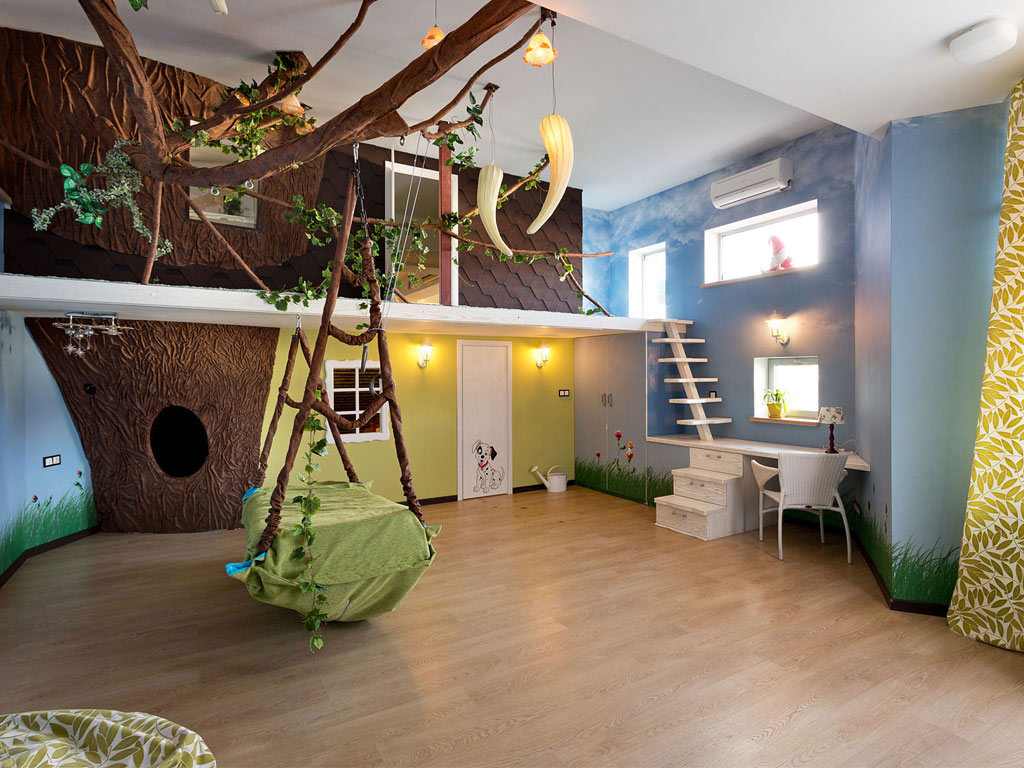 Children's Bedroom, Swing Bed, House in Dnepropetrovsk, Ukraine by Yakusha Design