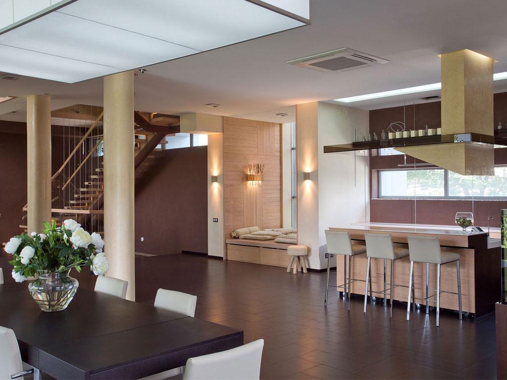Dining Table, Breakfast Bar, House in Dnepropetrovsk, Ukraine by Yakusha Design