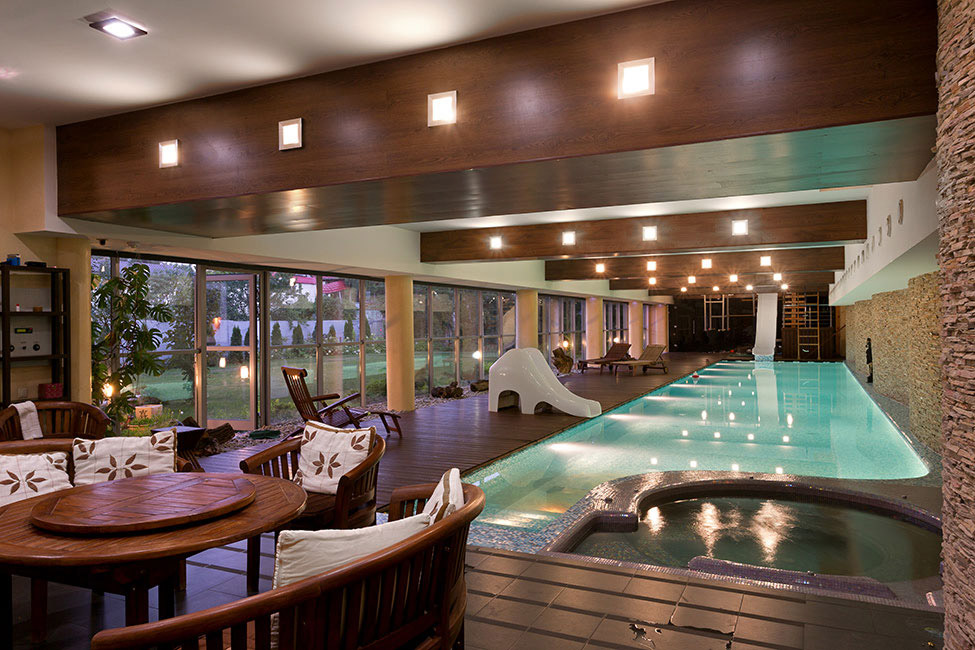 Indoor Pool Jacuzzi Lighting House In Dnepropetrovsk