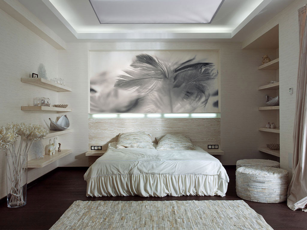 Light Bedroom, Art, House in Dnepropetrovsk, Ukraine by Yakusha Design
