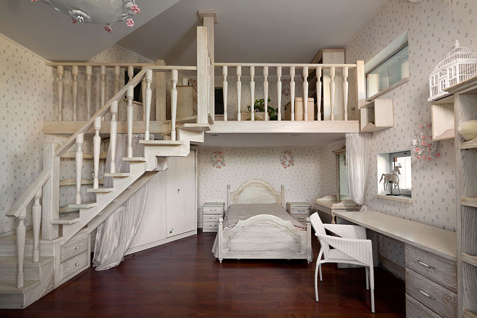 Mezzanine, Bedroom, House in Dnepropetrovsk, Ukraine by Yakusha Design