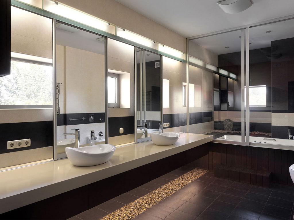 Modern Bathroom, House in Dnepropetrovsk, Ukraine by Yakusha Design