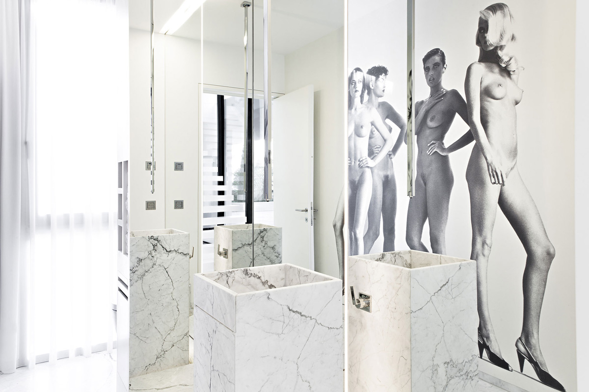 Bathroom Wall Art, House M in Meran, Italy by monovolume architecture + design