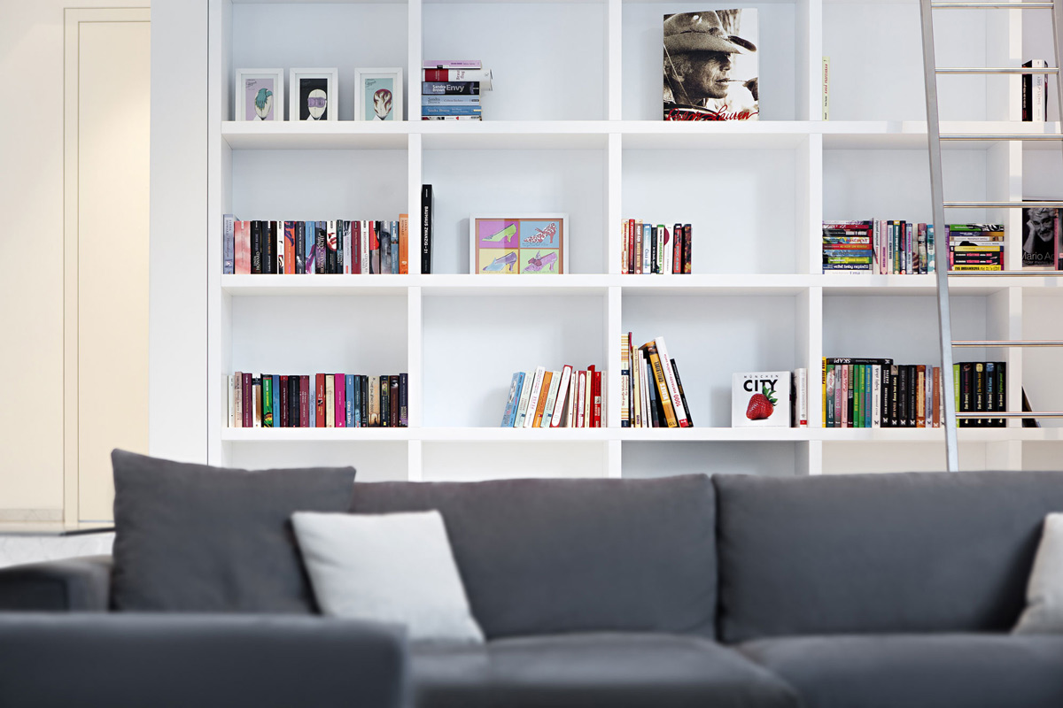 Bookshelf, House M in Meran, Italy by monovolume architecture + design