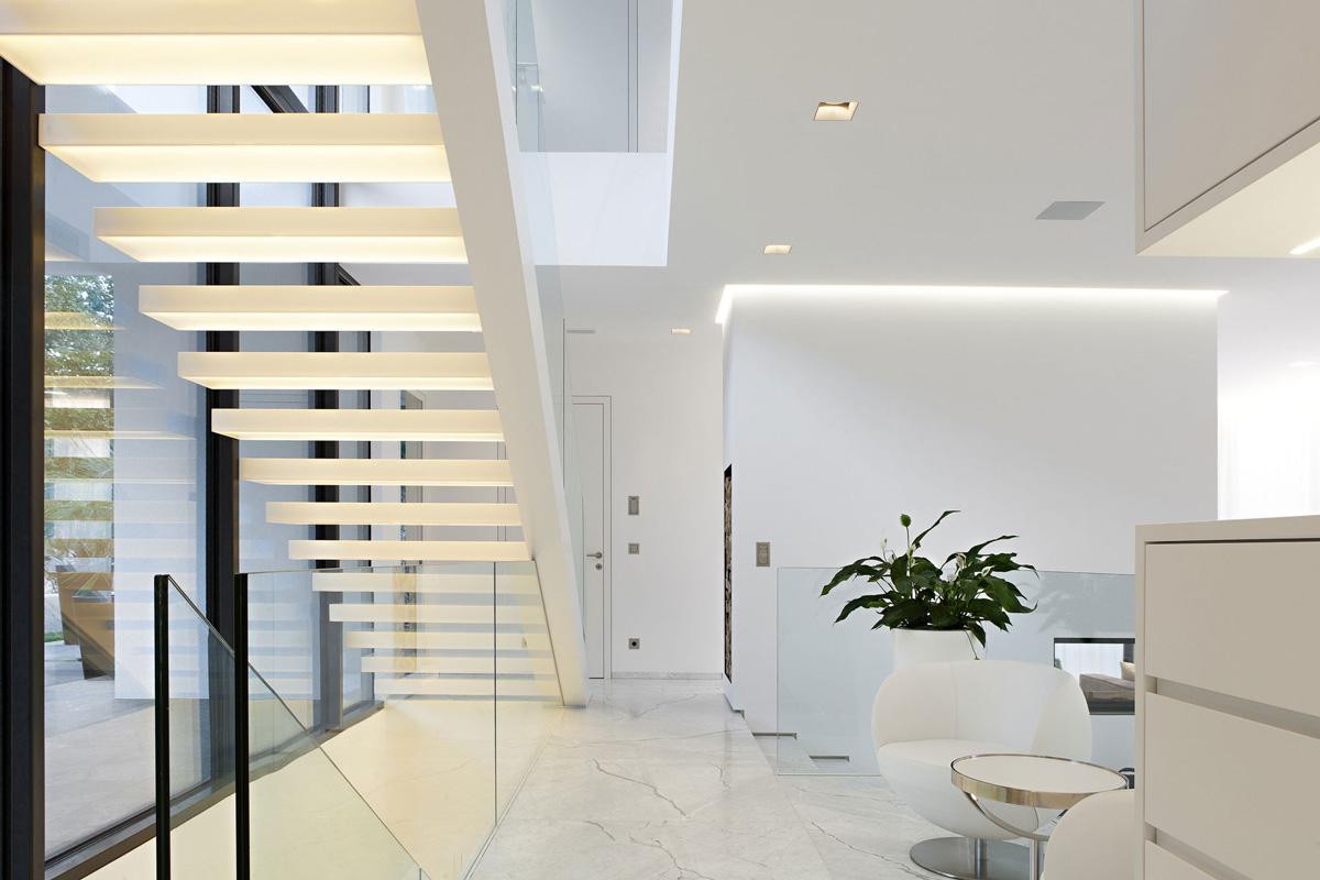 Stairs, Marble Tiles, House M in Meran, Italy by monovolume architecture + design