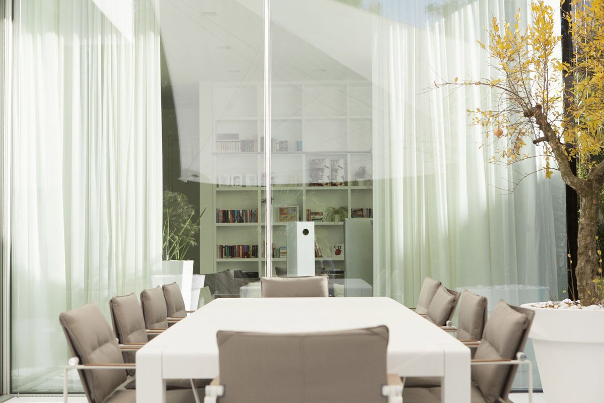 Outdoor Dining Table, House M in Meran, Italy by monovolume architecture + design