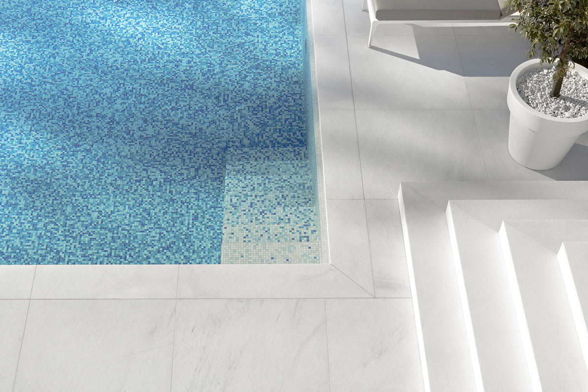 Pool Tiles, House M in Meran, Italy by monovolume architecture + design
