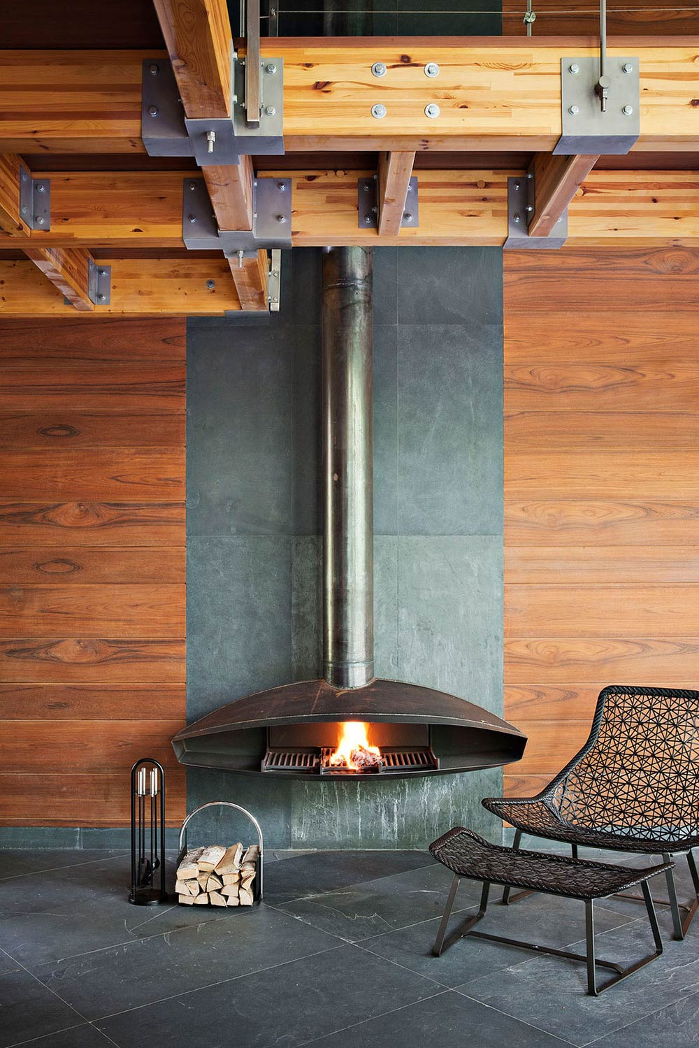 Contemporary Fireplace, Sophisticated House Near Moscow by Olga Freiman