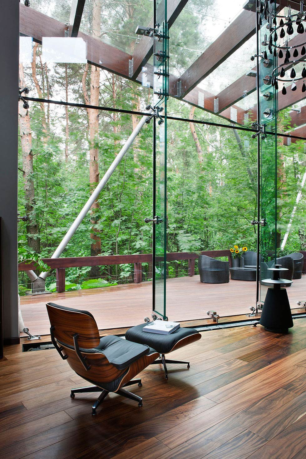 Glass Walls, Wood Flooring, Sophisticated House Near Moscow by Olga Freiman