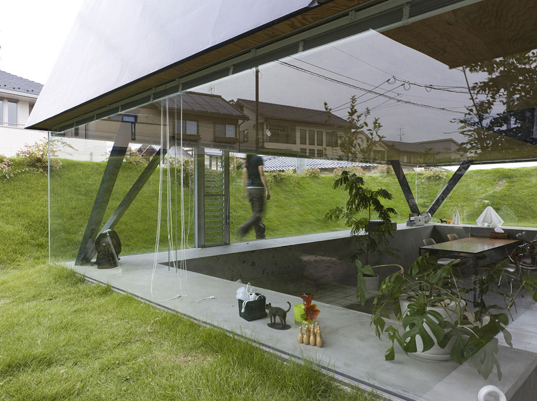 Glass Walls, House in Saijo, Japan by Suppose Design Office