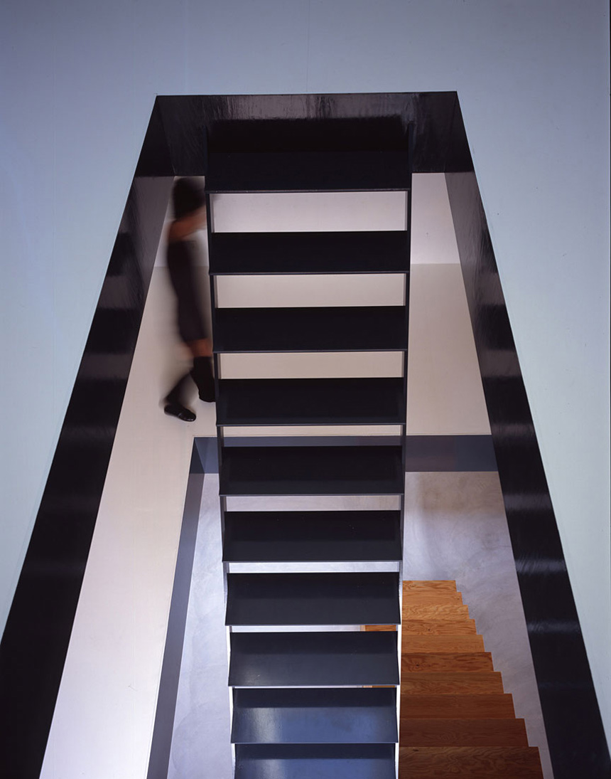 Stairs, House in Saijo, Japan by Suppose Design Office