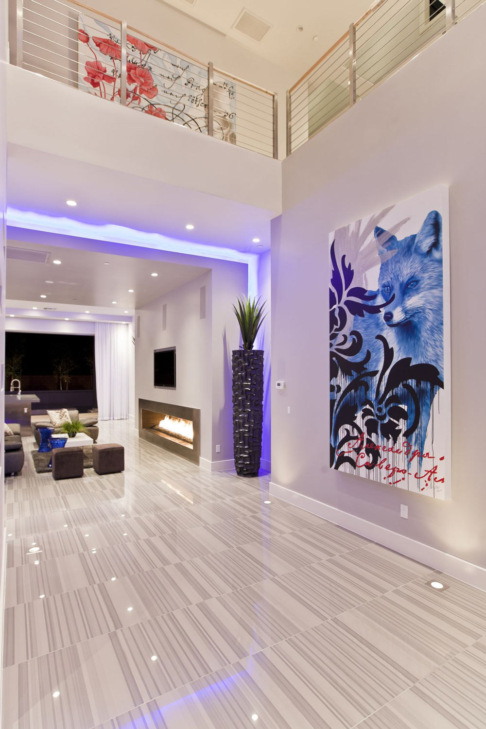 LED Lighting, Modern Fireplace, Hurtado Residence in Las Vegas by Mark Tracy of Chemical Spaces