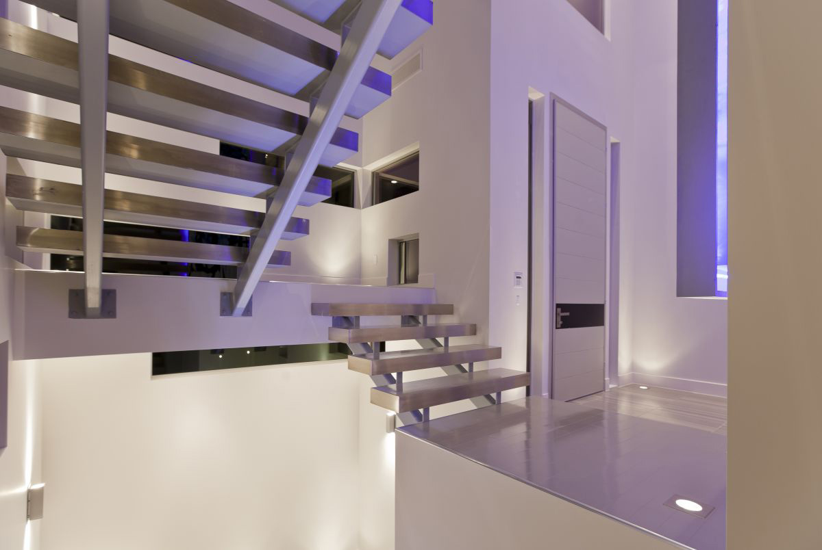 Entrance, Stairs, Hurtado Residence in Las Vegas by Mark Tracy of Chemical Spaces