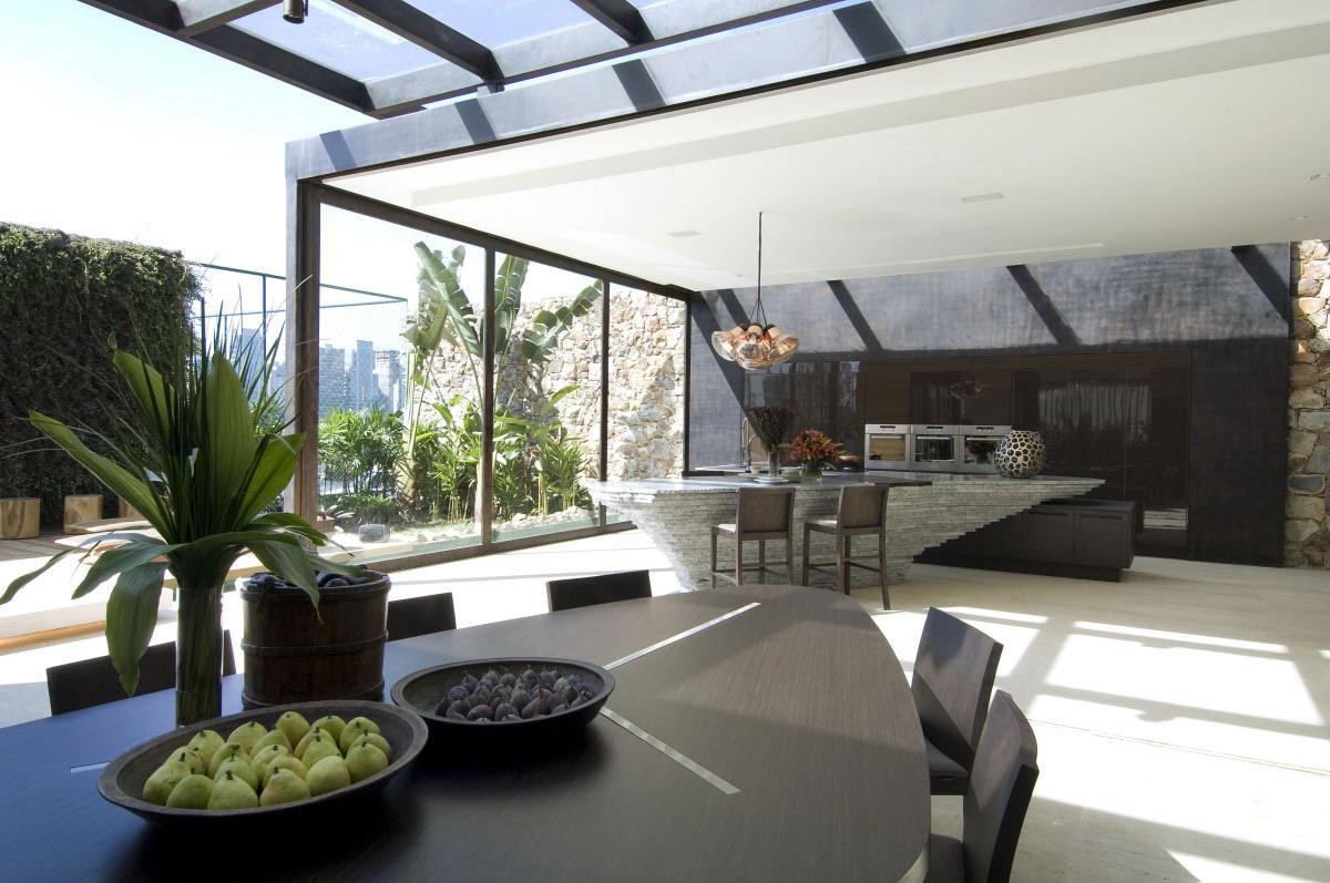 Open Plan, Dining Table, Kitchen, Loft 24-7 in São Paulo, Brazil by Fernanda Marques Arquiteto Asociados