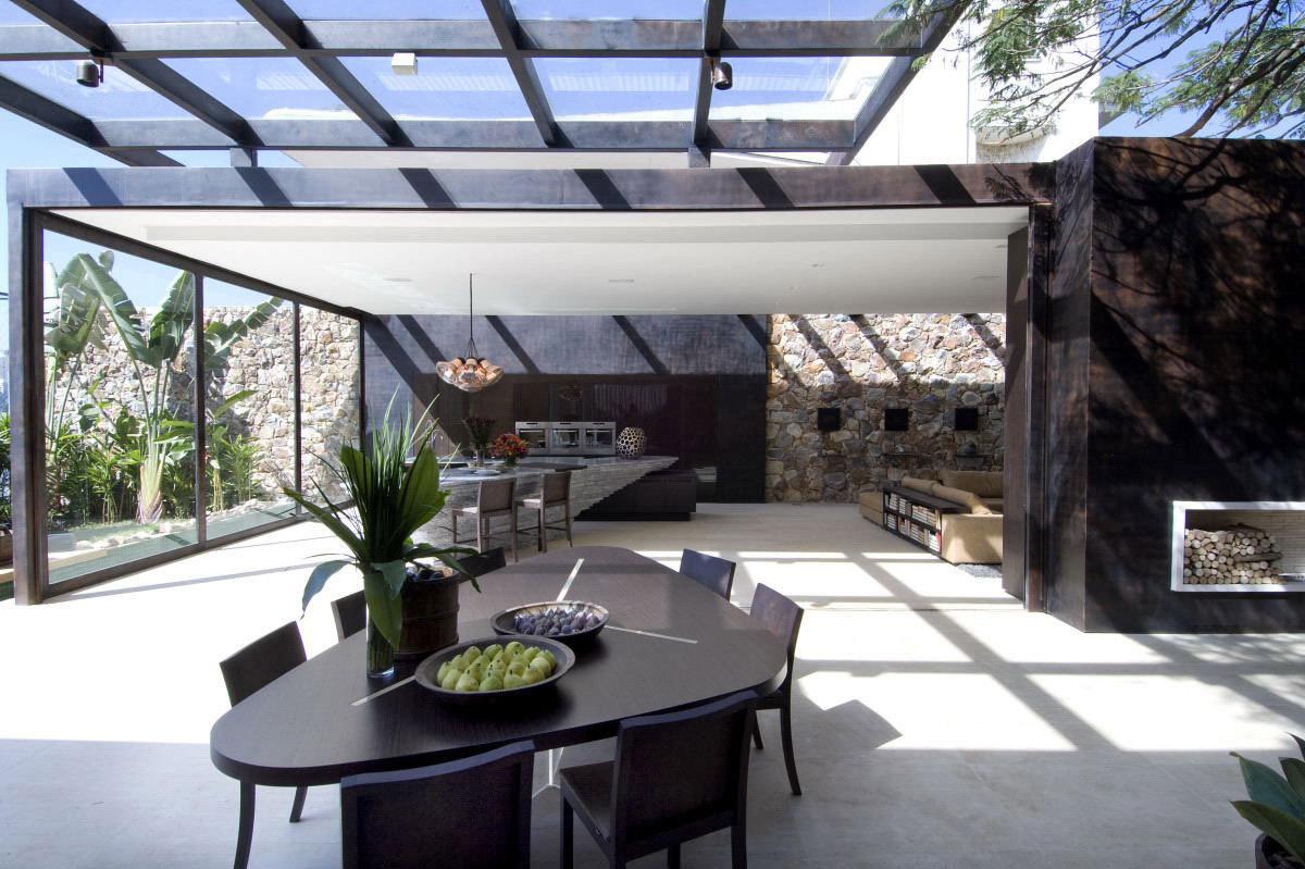 Open Plan Kitchen, Dining Space, Loft 24-7 in São Paulo, Brazil by Fernanda Marques Arquiteto Asociados