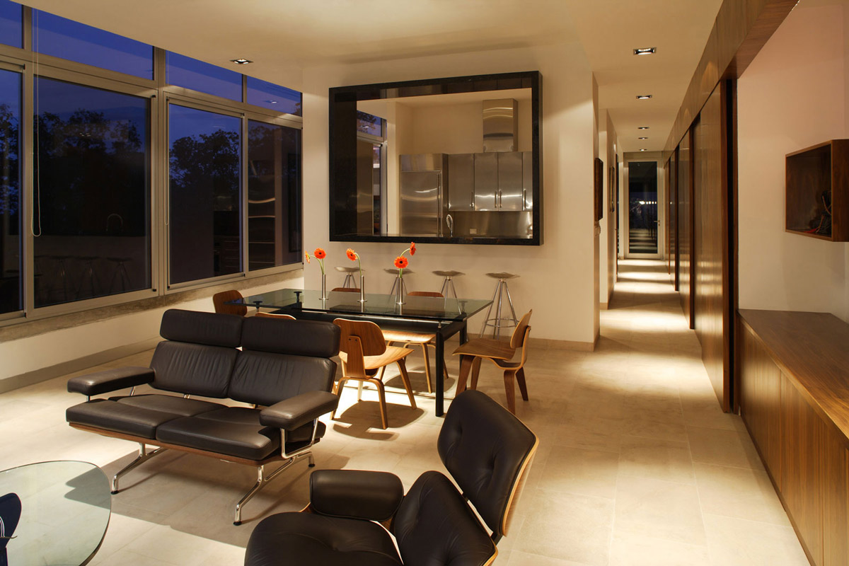 Open Plan Living, Dining Space, Residencia MB2 in Nuevo León, Mexico by LeNoir & Asoc.