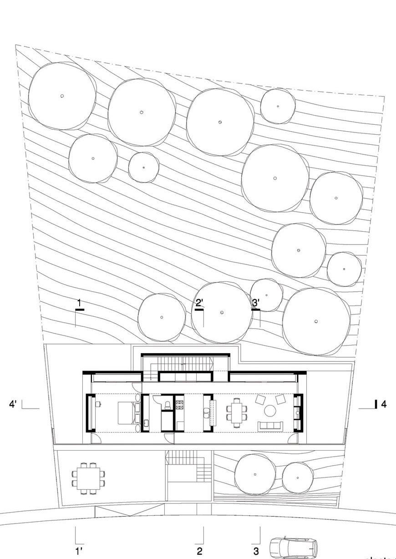 Plan, Residencia MB2 in Nuevo León, Mexico by LeNoir & Asoc.