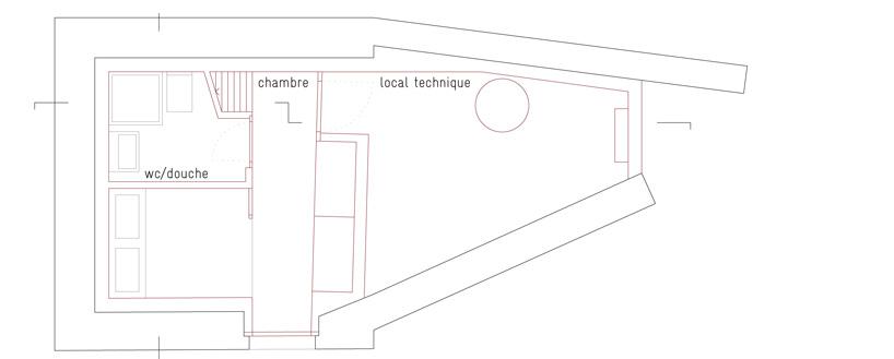 First Floor Plan, Maison Boisset in Orsières Switzerland by Savioz Fabrizzi Architectes