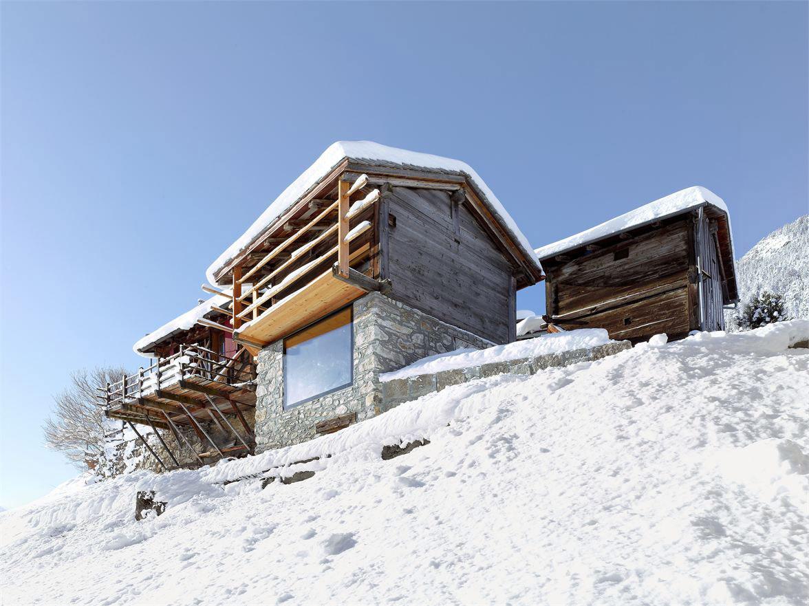 Stone House, Maison Boisset in Orsières Switzerland by Savioz Fabrizzi Architectes