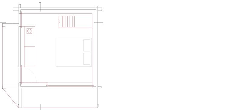 Third Floor Plan, Maison Boisset in Orsières Swizterland by Savioz Fabrizzi Architectes