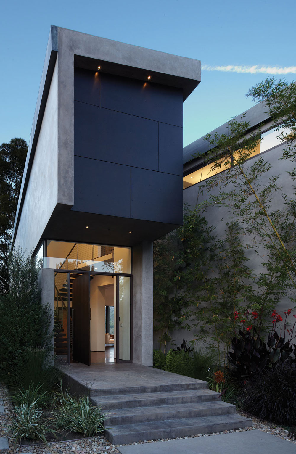 Front Door, Mandeville Canyon Residence in Los Angeles by Griffin Enright Architects