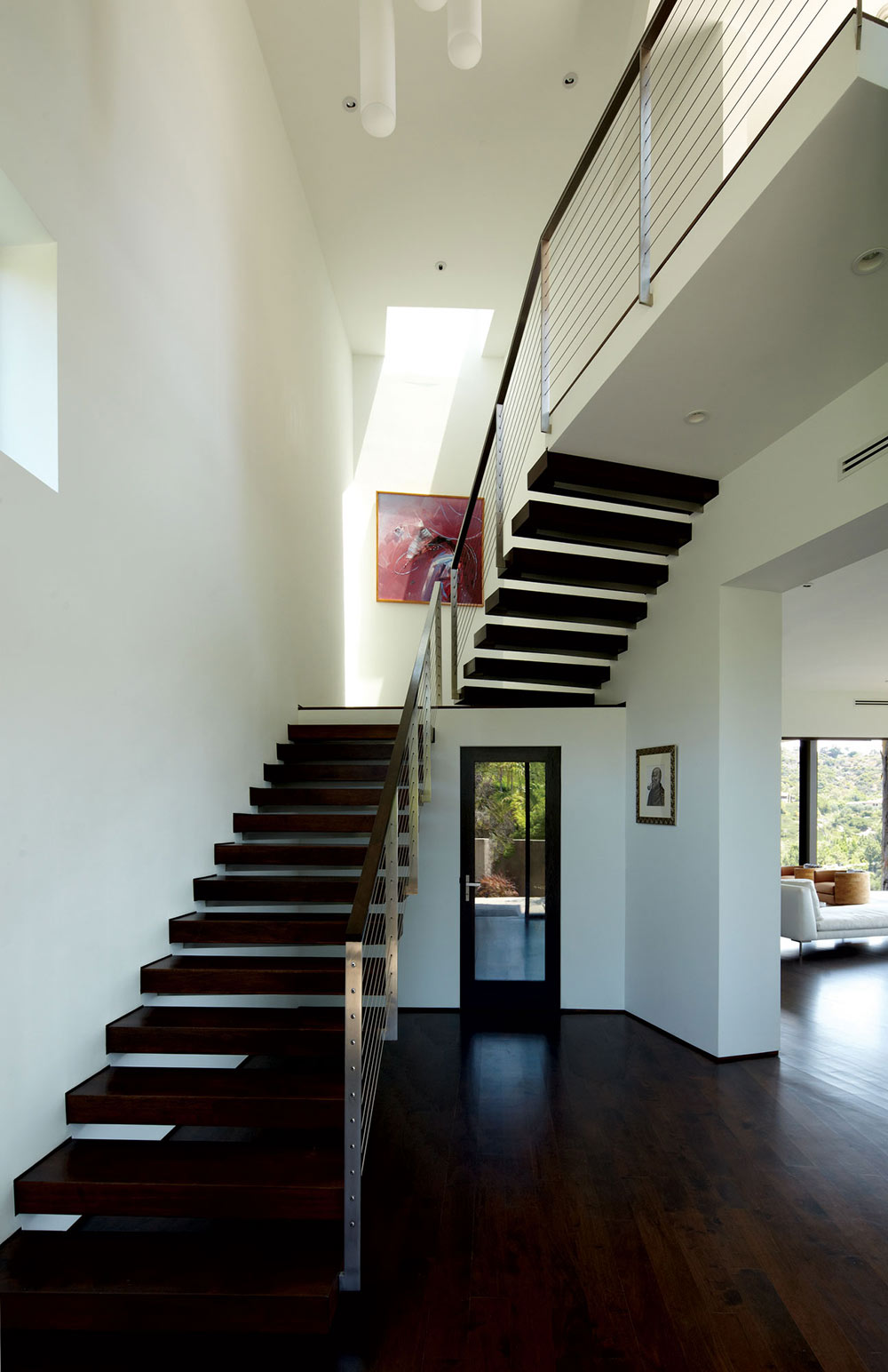 Stairs, Mandeville Canyon Residence in Los Angeles by Griffin Enright Architects