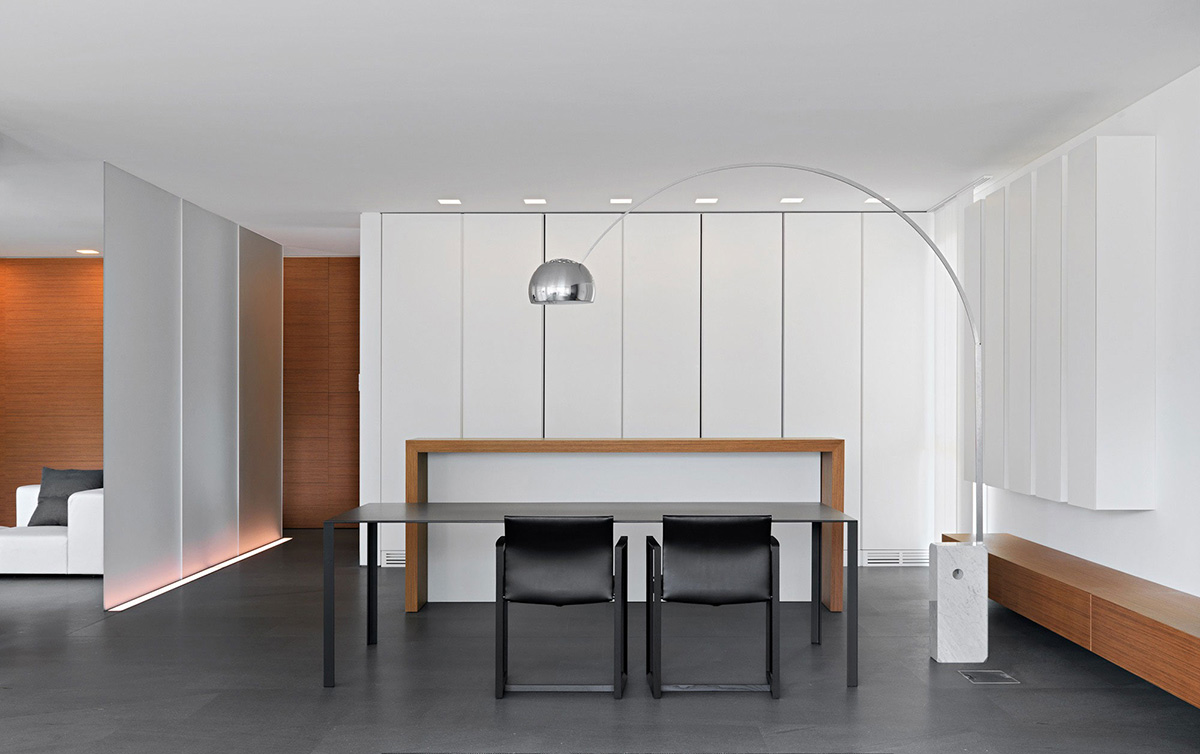 Dining Space, Minimalist Home in Lugano, Switzerland by Victor Vasilev