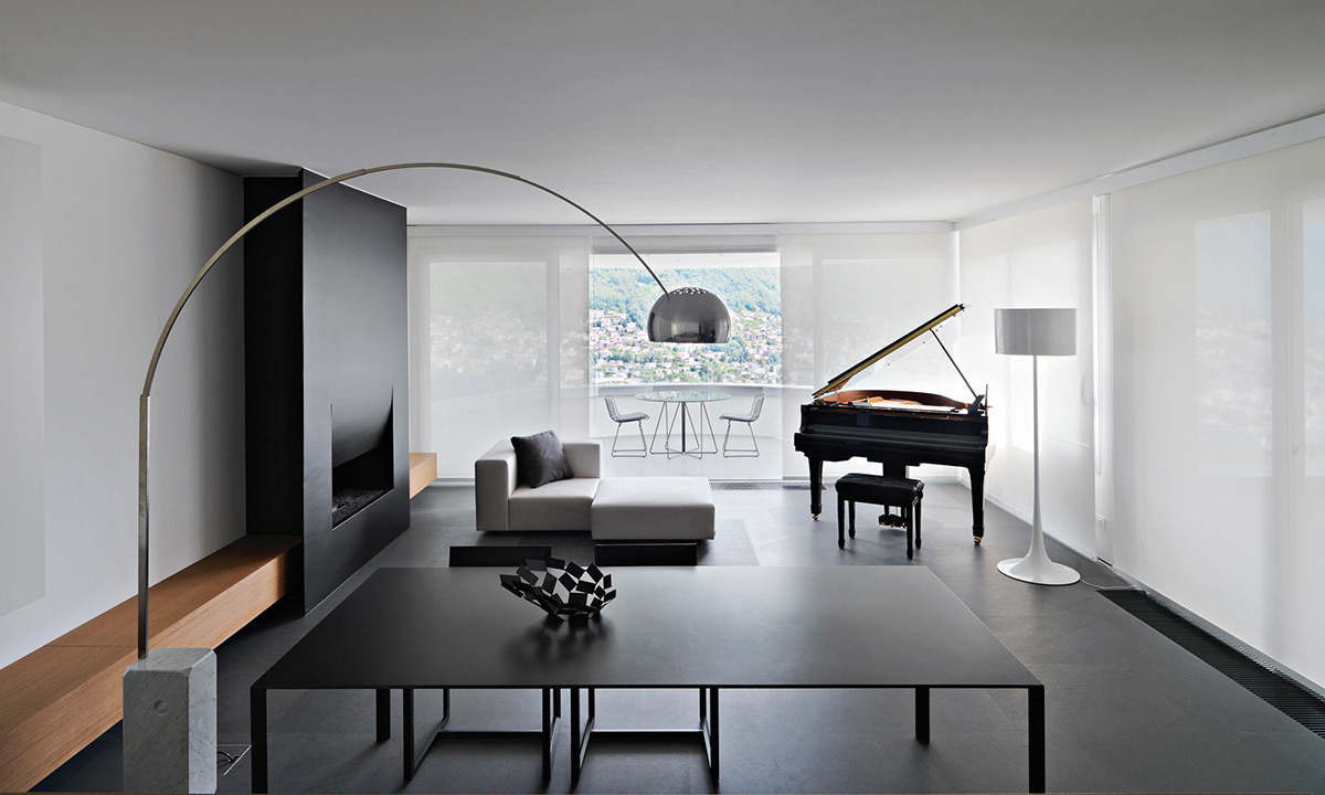 Minimalist Home in Lugano, Switzerland by Victor Vasilev