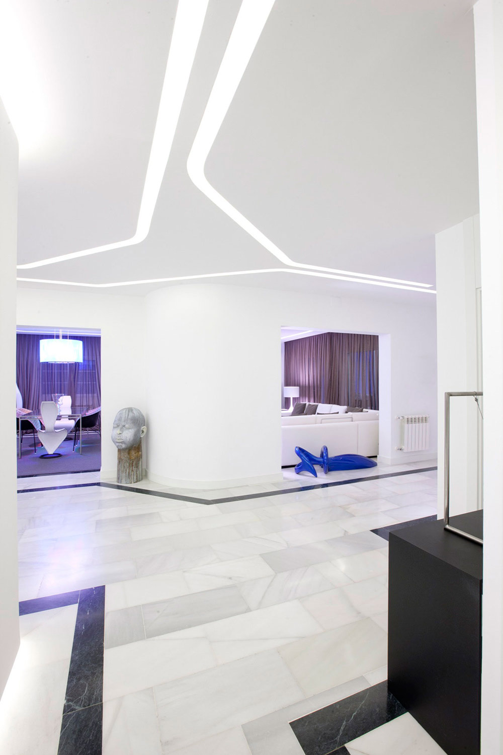 Bright Hallway, Modern Apartment in Madrid Designed by IlmioDesign