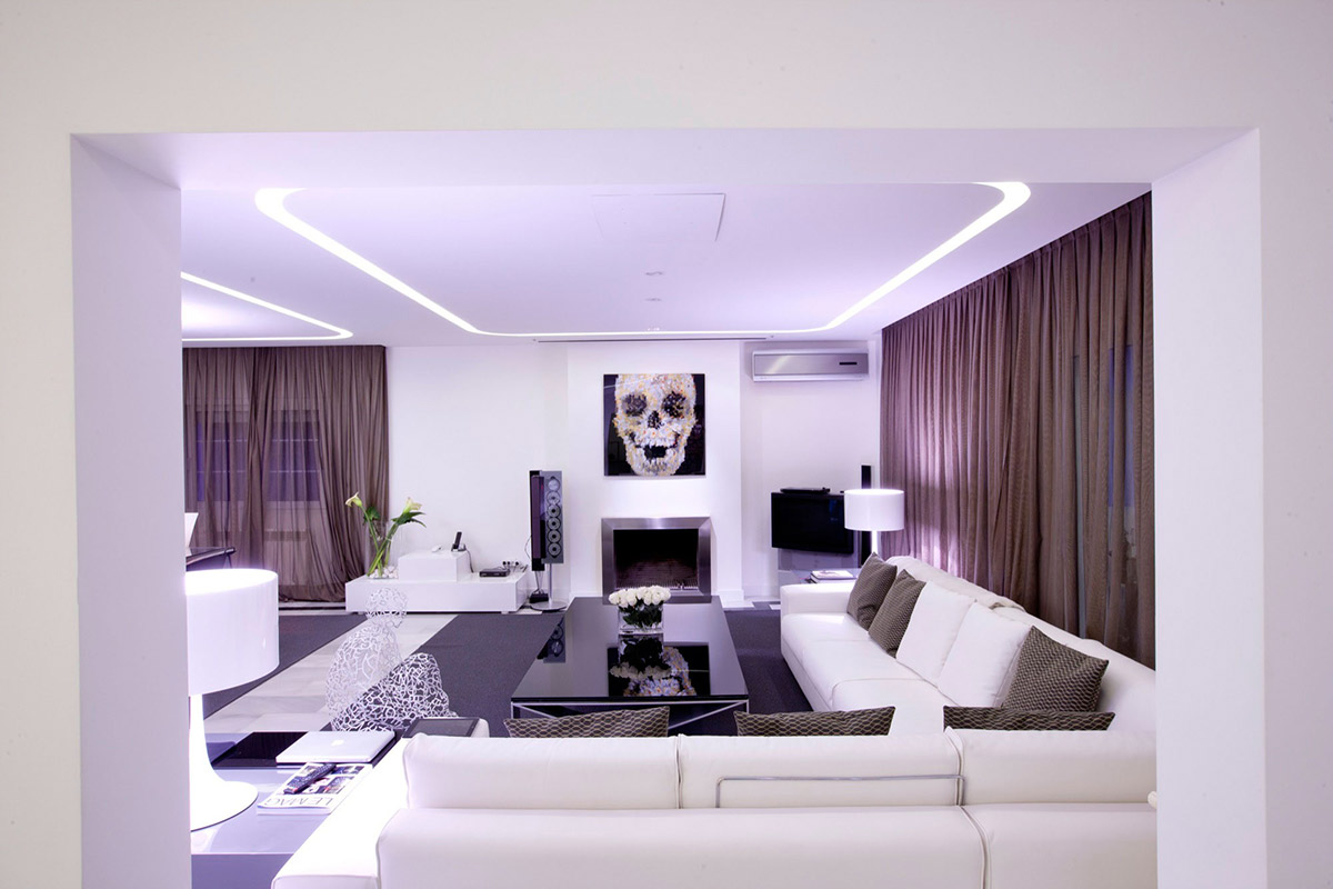 Living Space, Lighting, Modern Apartment in Madrid Designed by IlmioDesign