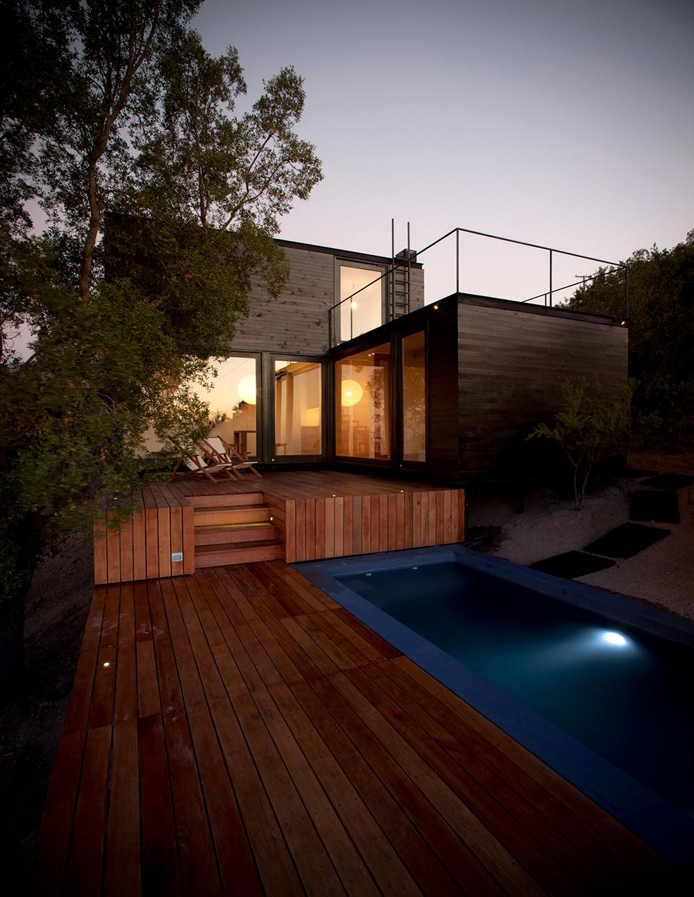 Deck, Outdoor Pool, Pangal Cabin in Casablanca, Chile