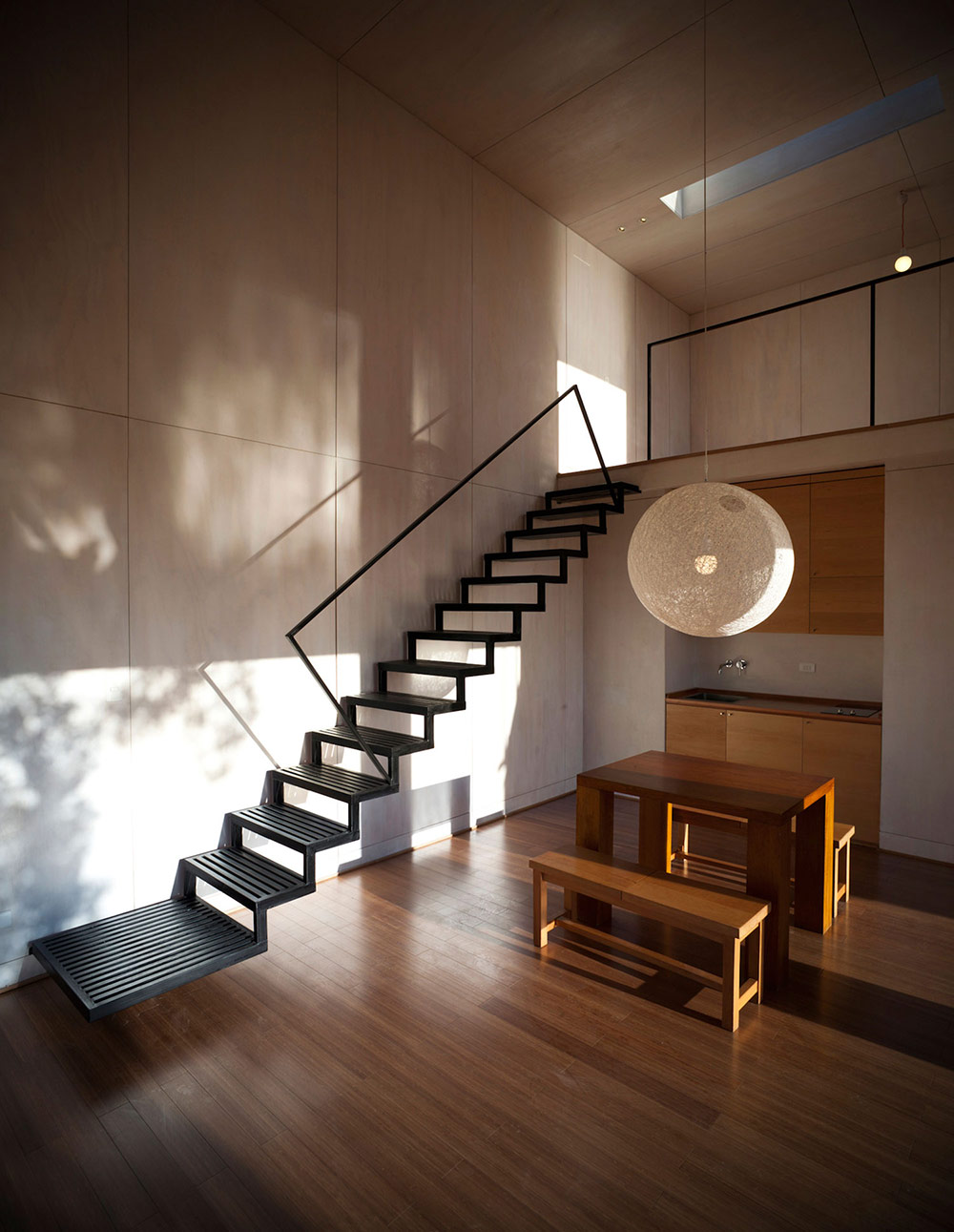 Modern Stairs, Pangal Cabin in Casablanca, Chile