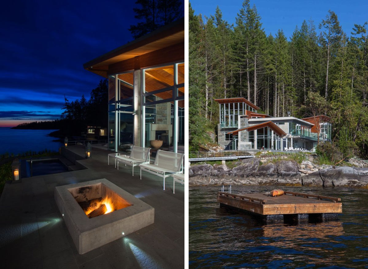 Fire Pit, Swim Platform, Pender Harbour House in Pender Harbour, BC, Canada