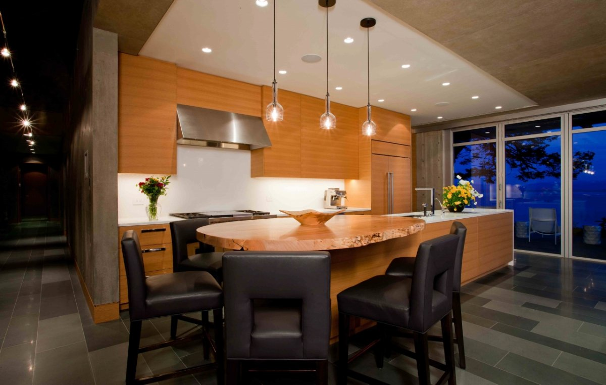 kitchen island breakfast bar pender harbour house in