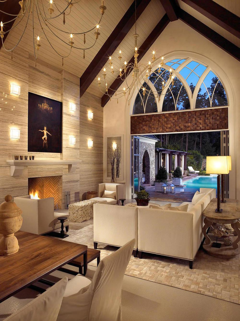Pool House & Wine Cellar in Nashville, Tennessee by Beckwith Interiors