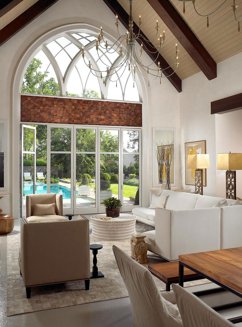 Living Space, Pool House & Wine Cellar in Nashville, Tennessee by Beckwith Interiors