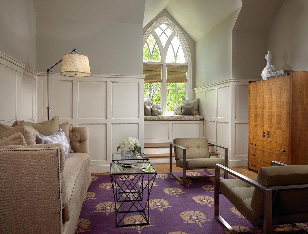 Purple Rug, Pool House & Wine Cellar in Nashville, Tennessee by Beckwith Interiors
