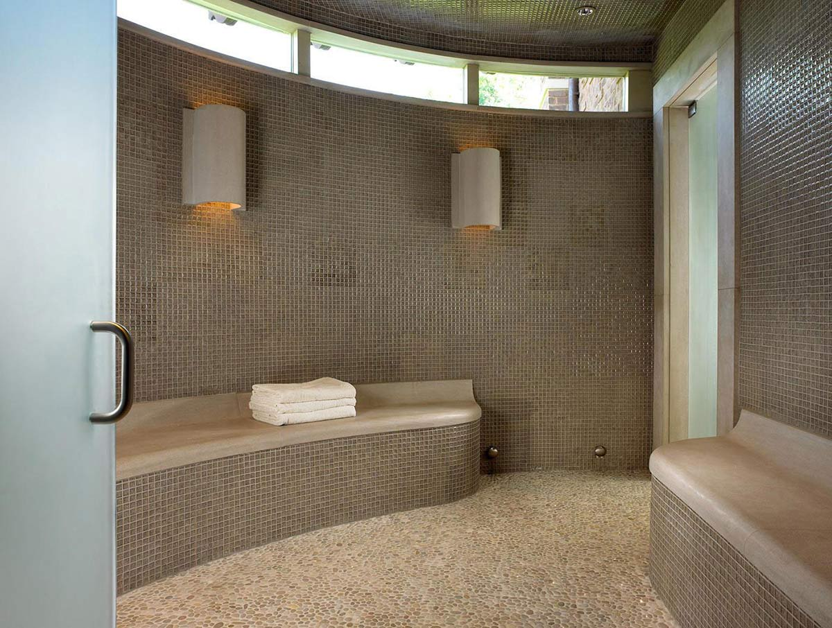 Sauna, Pool House & Wine Cellar in Nashville, Tennessee by Beckwith Interiors