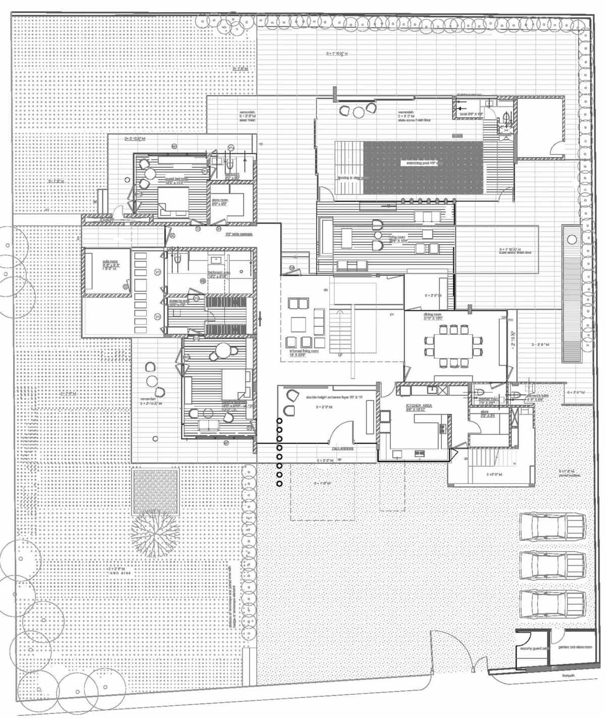 Ground Floor Plan, Poona House in Mumbai, India by Rajiv Saini